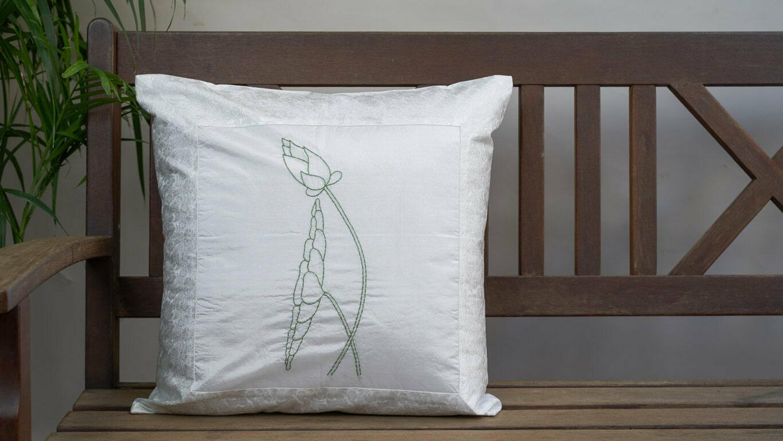 """Cushion Cover """"Framed Lotus"""" CH60BG"""
