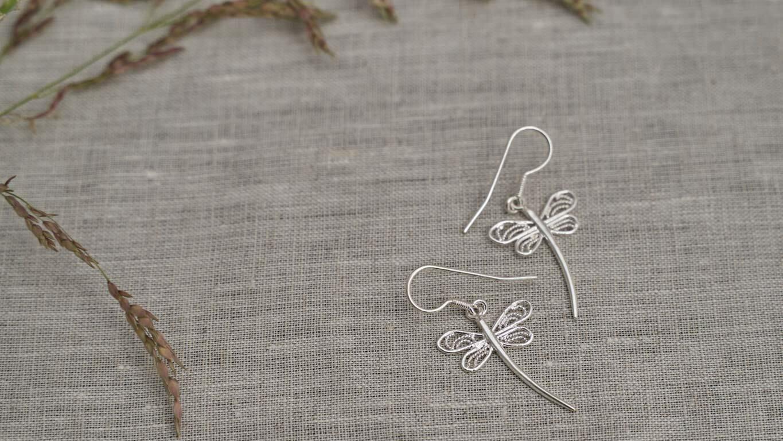 """Earrings """"Dragonfly"""" RO126TS"""