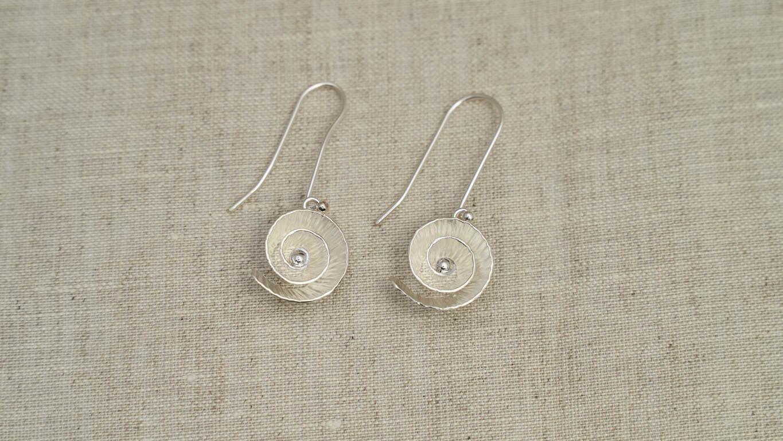 "Earrings ""Nautilus Seed"" TN14TS"