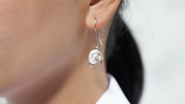 """Earrings """"Nautilus Seed"""""""