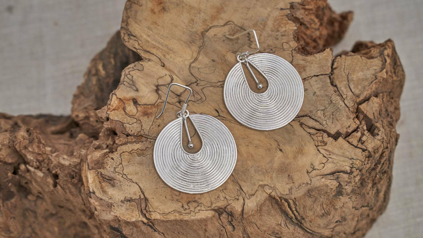 "Earrings ""Timeless  Circles"" RO18TS"