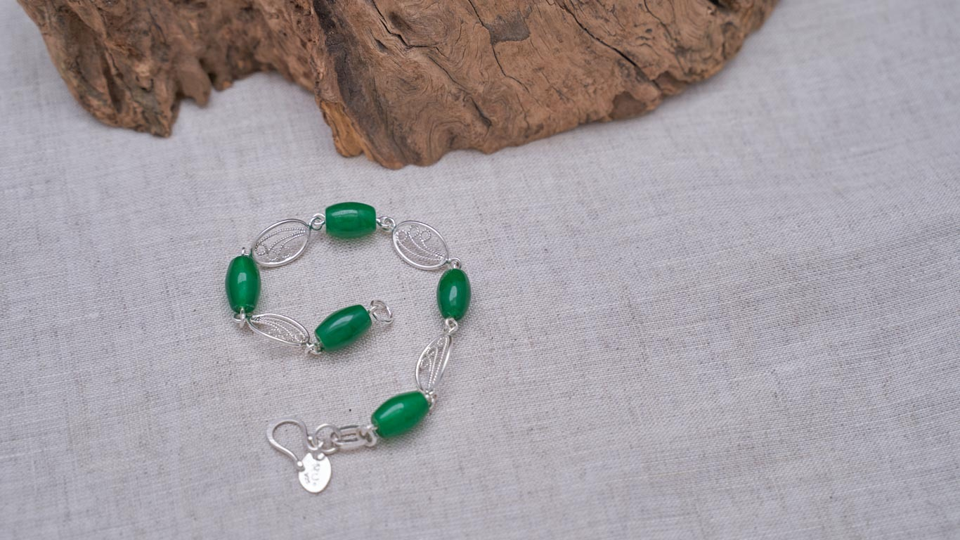 """Bracelet """"Jade-Silver Friends"""" RO20TS"""