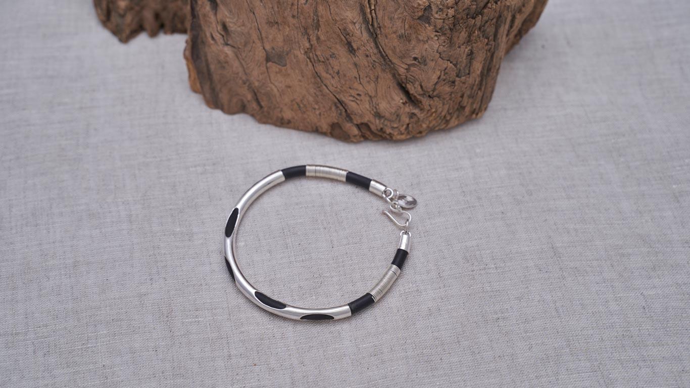 "Bracelet ""Silver and Black"""