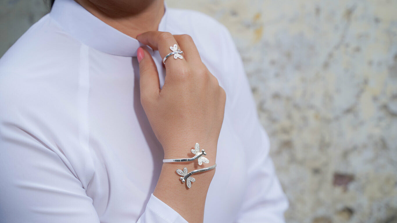 """Bracelet """"Silver Dragonfly"""""""