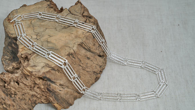 """Silver """"Collar"""" Necklace RO139TS"""