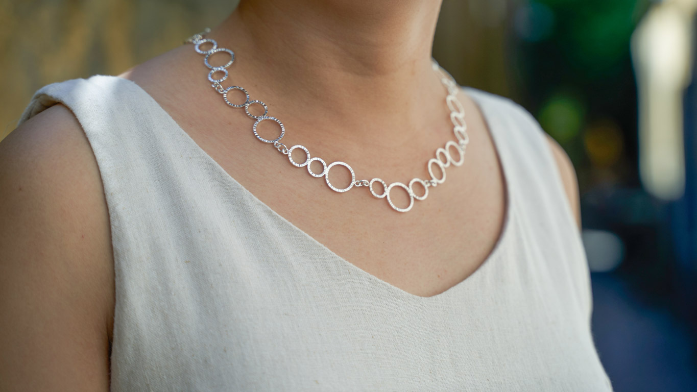 """Necklace """"Triple Ring Chain"""" RO147TS"""