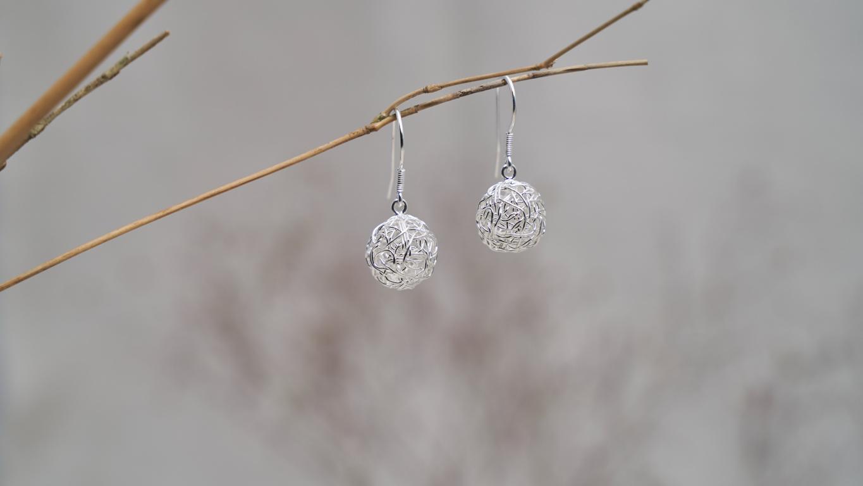 """""""Wired Spheres"""" Earrings RO97TS"""