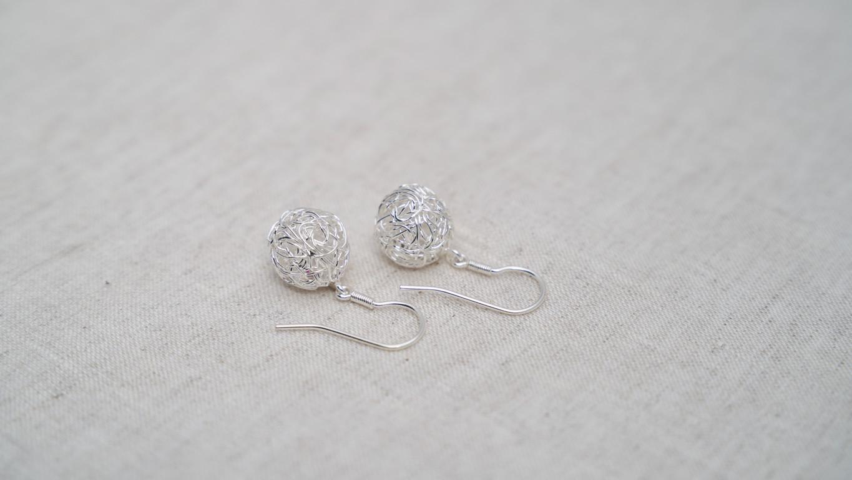 """""""Wired Spheres"""" Earrings"""