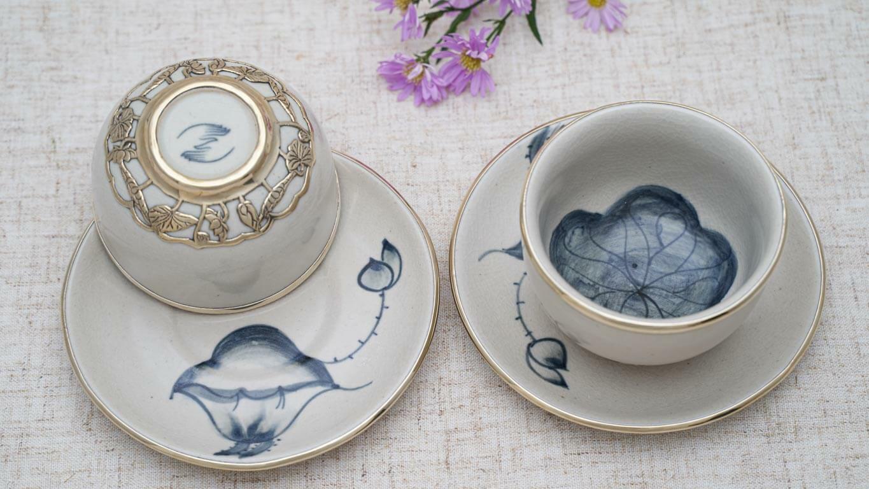 Lotus flower teacup set DG37BT