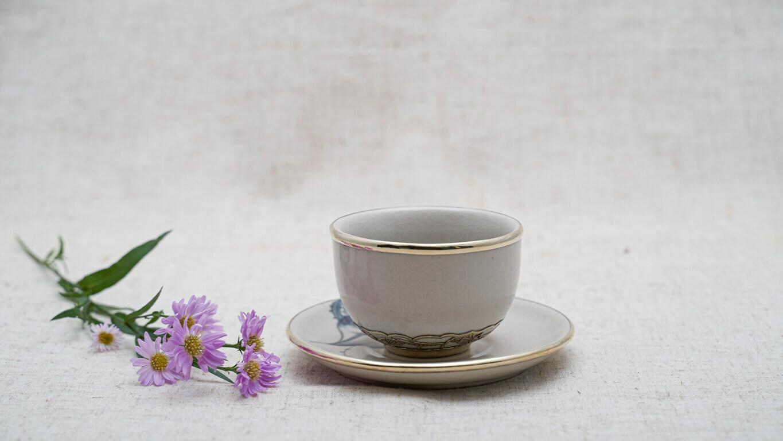 Lotus flower teacup set