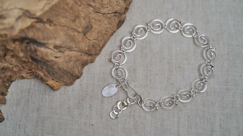 """Bracelet  """"Dancing Spirals"""" RO152TS"""