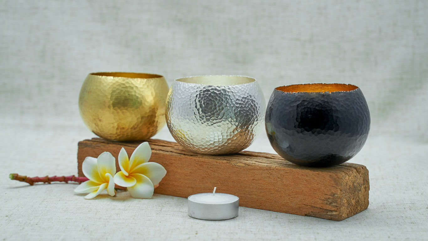 """Candle holder """"Hammered Surface"""" HP3TS"""