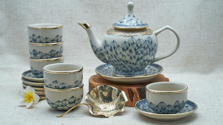 "Ceramic teapot ""Lotus petal"" AC45TCSR"