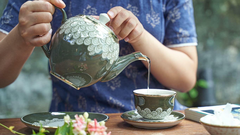 """Ceramic teacup """"Dragon scale"""""""