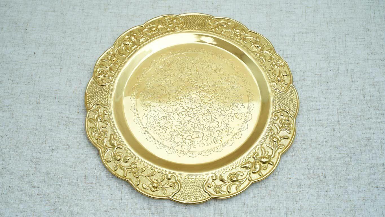 Engraved Circle Bronze Tray HP90TS