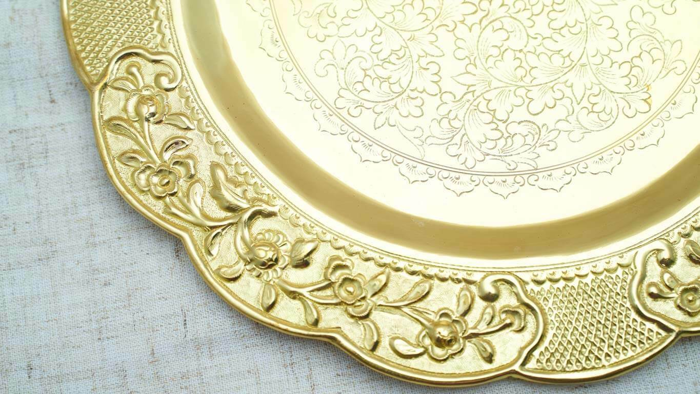 Engraved Circle Bronze Tray