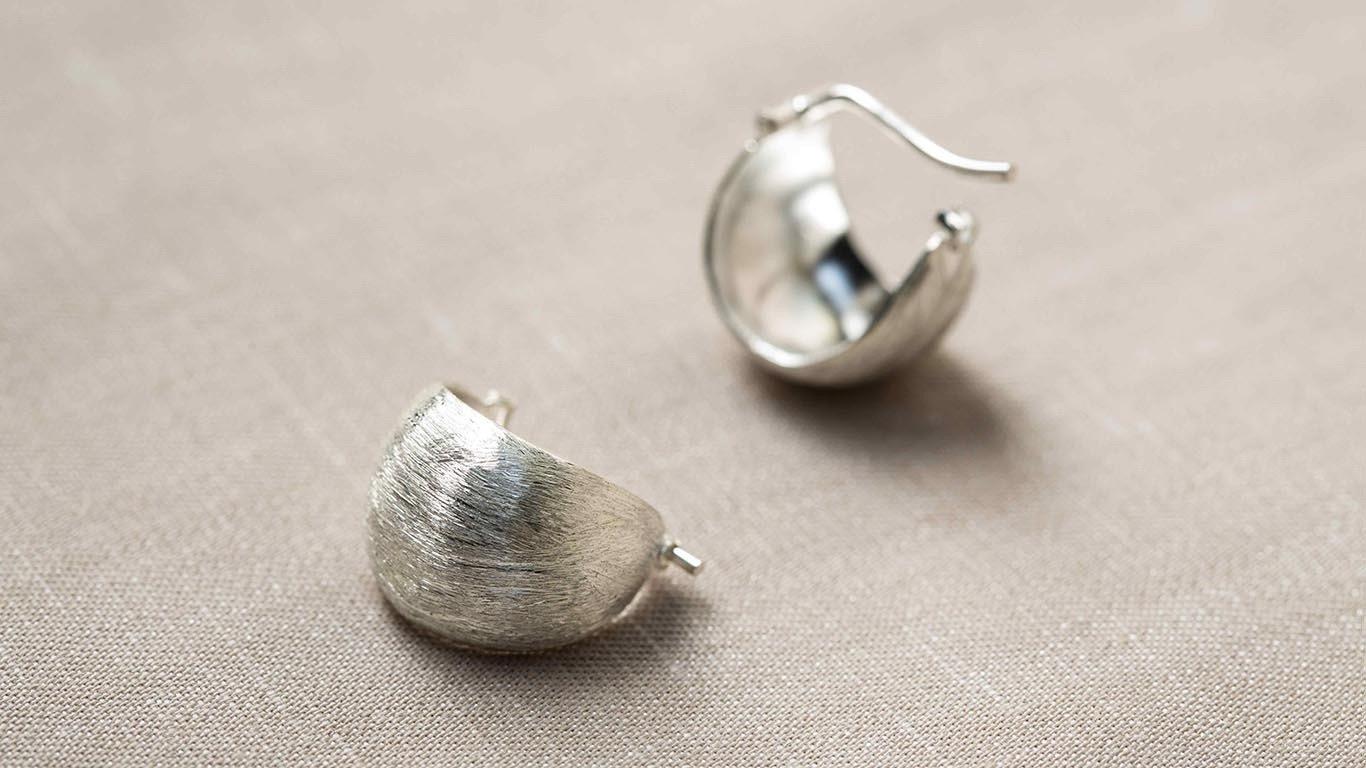 """Earrings """"Half Moon"""" RO84TS"""