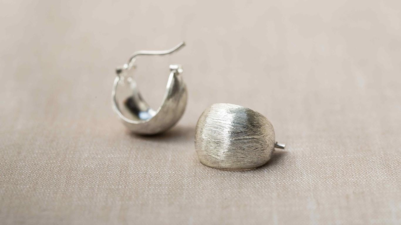 Etched Silver Earrings 1