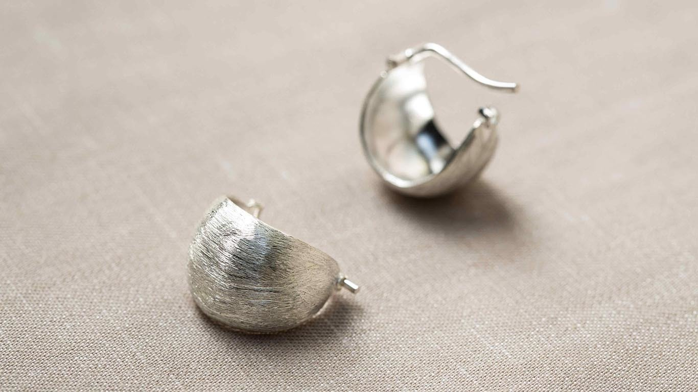 Etched Silver Earrings 2