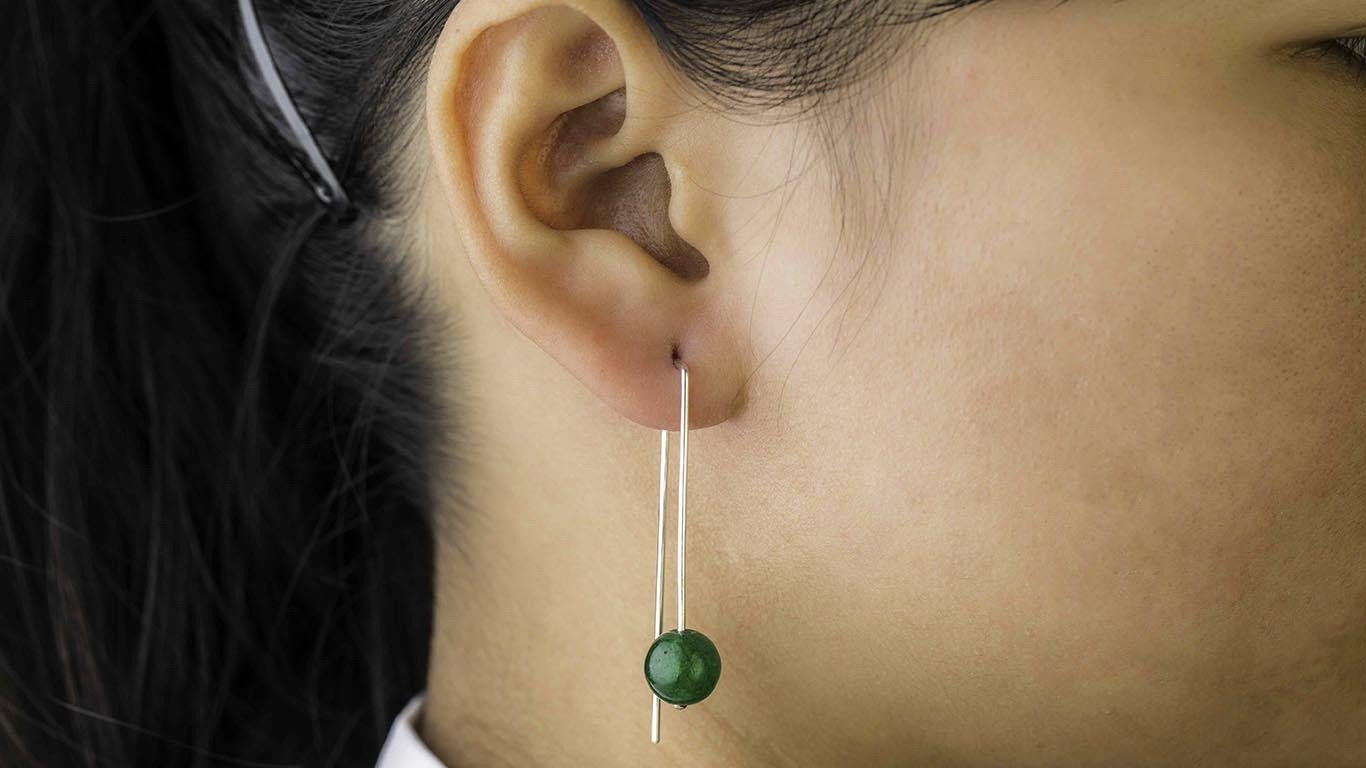 "Earrings ""Jade Pearl"""
