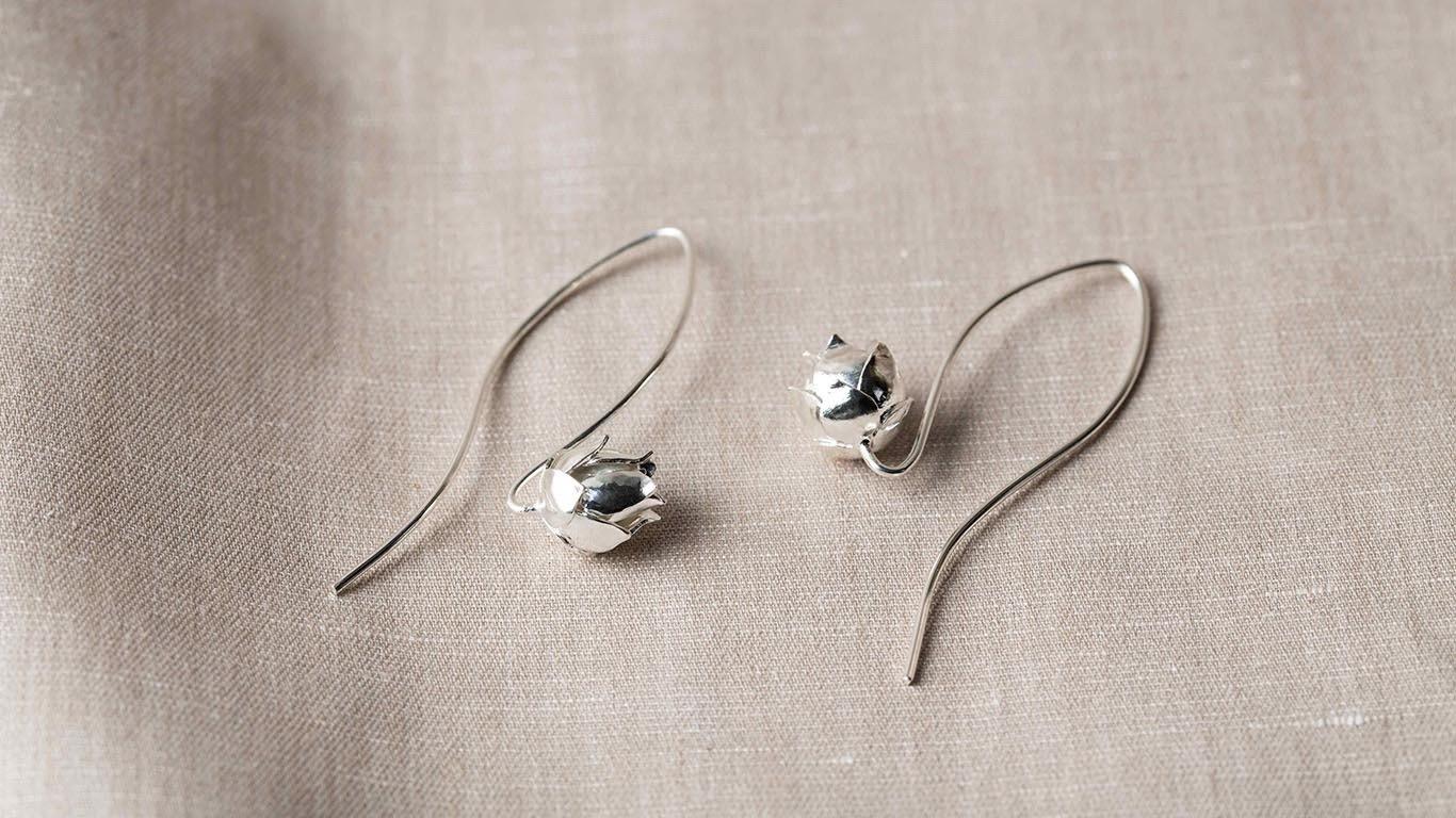 """Earrings """"Little Lotus"""" RO50TS"""