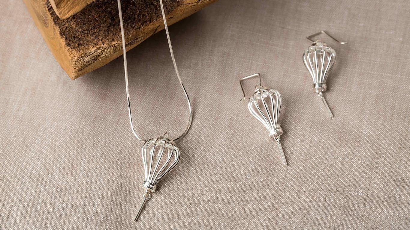 Silver Lantern earrings