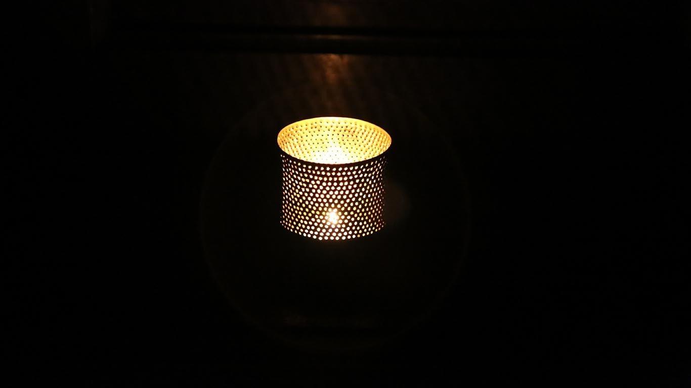 """Candle holder """"Black Cylinder"""""""