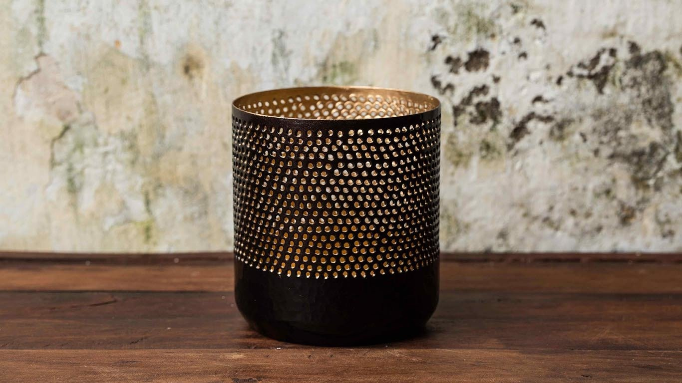 "Candle holder ""Black Cylinder"" HP54TS"