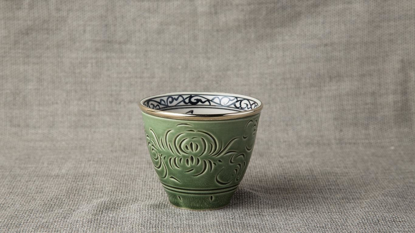 Deep green cup