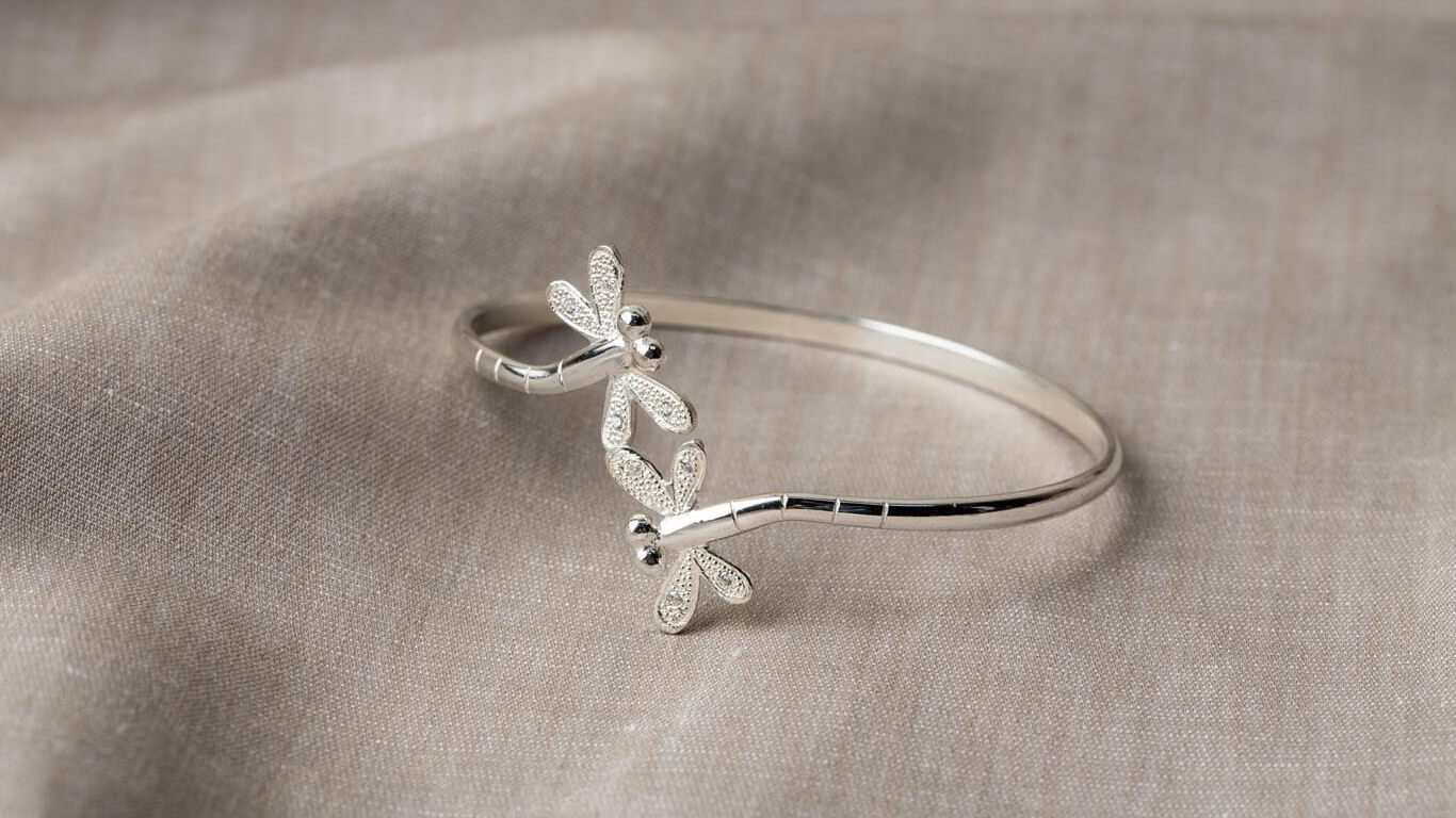 Reaching Out - Adjustable Stackable DragonFly Bracelet
