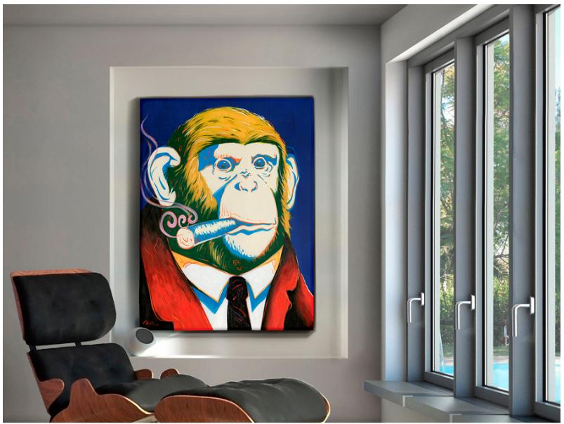 """Pintura acrílica sobre lienzo """"El Jefe"""""""