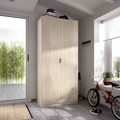 Armario 2 puertas batientes -Ancho 0,80- en color natural-