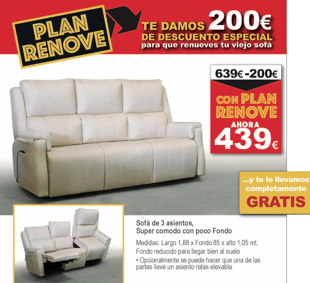 Sofa 3 plazas Ultra Comodo !!! PLAN RENOVE PARA ESTE MODELO !!!