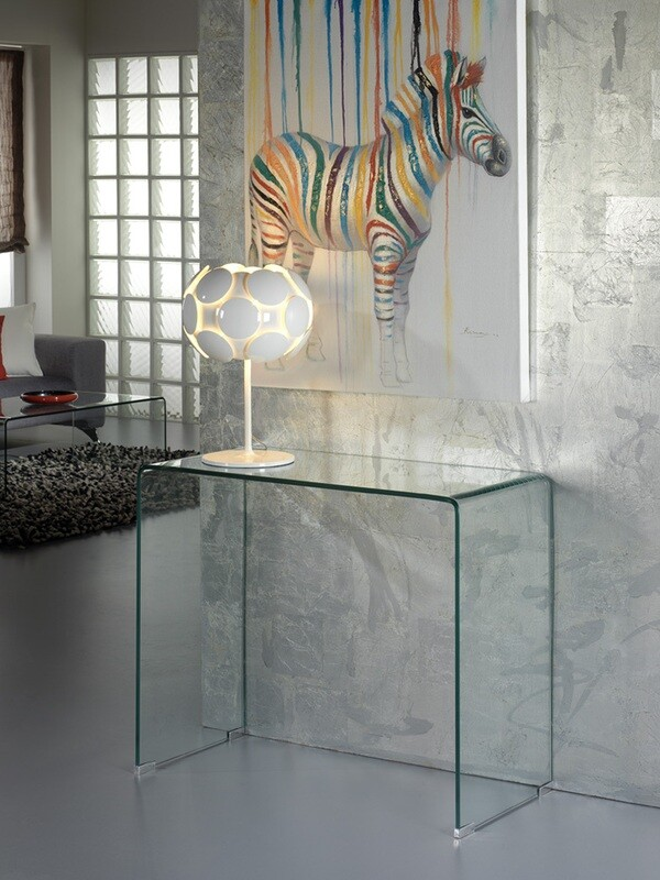 CONSOLA ·GLASS· TRANSPARENTE