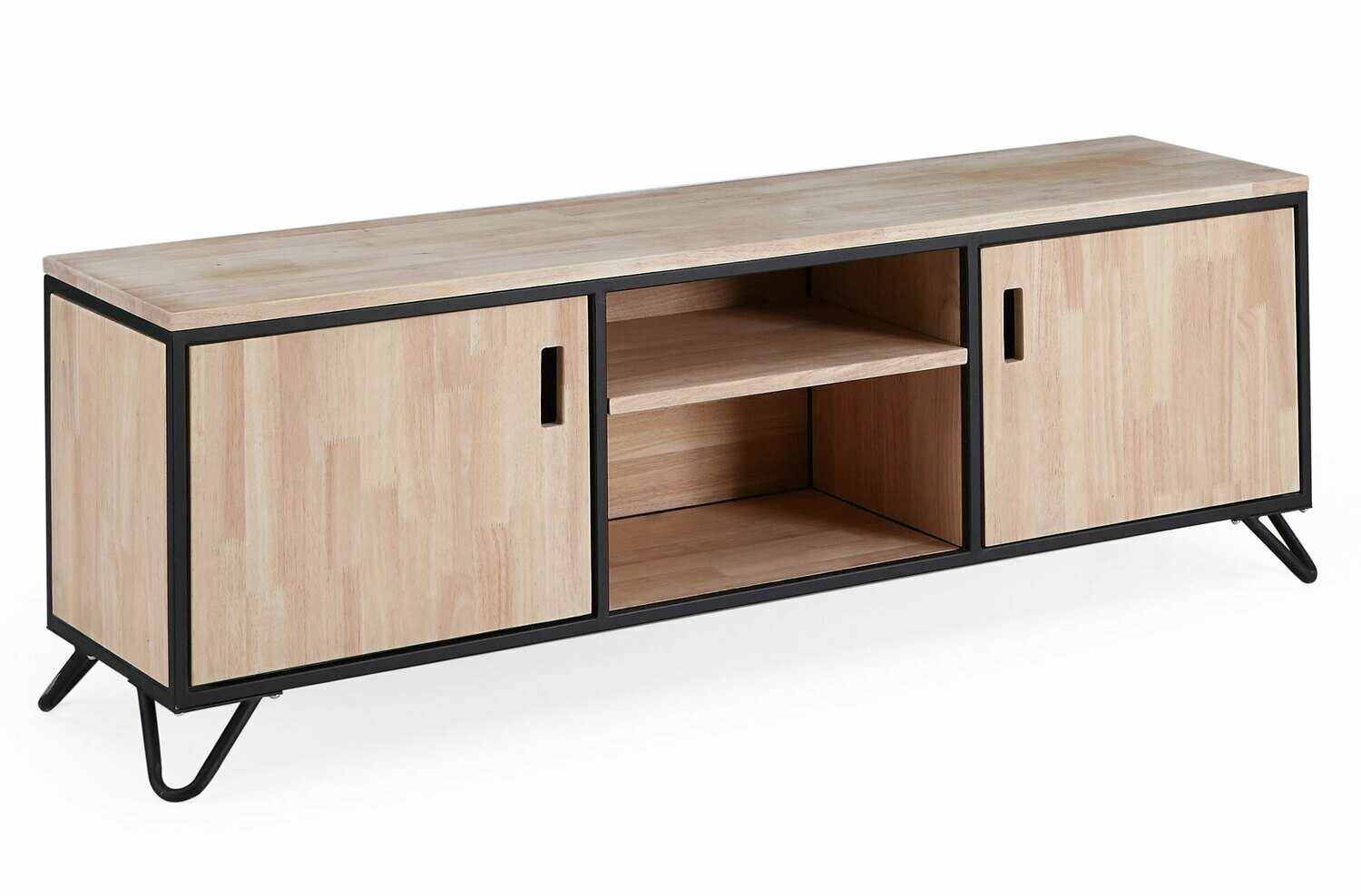 MUEBLE TV INDUSTRIAL ROBLE NORDISH / NEGRO.