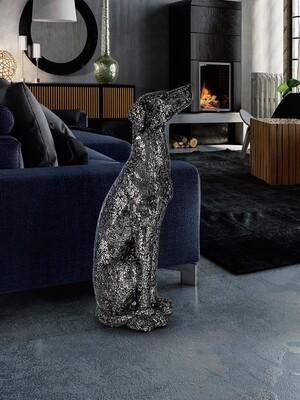 Escultura Figura Decorativa Galgo Dogo.