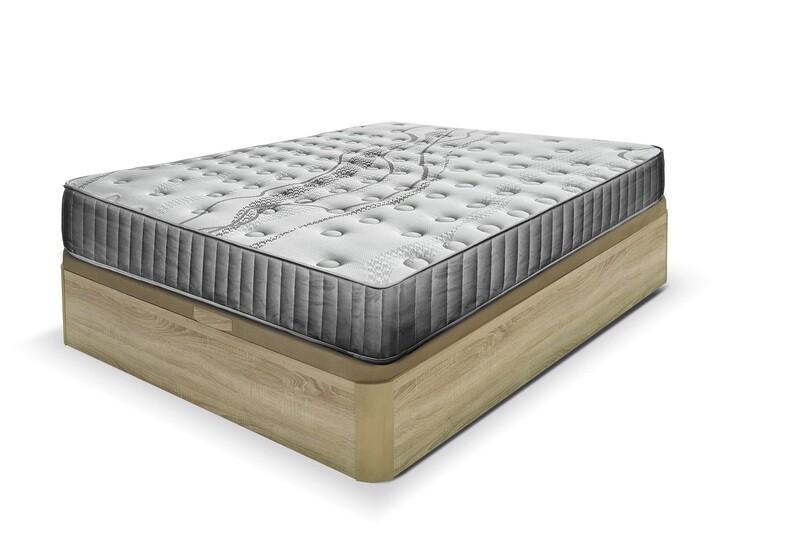 Pack MEDIUM - Colchón Muelles+Visco  con Canapé Gran Capacidad