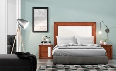 Dormitorio Matrimonial en Chapa de Natural de Roble