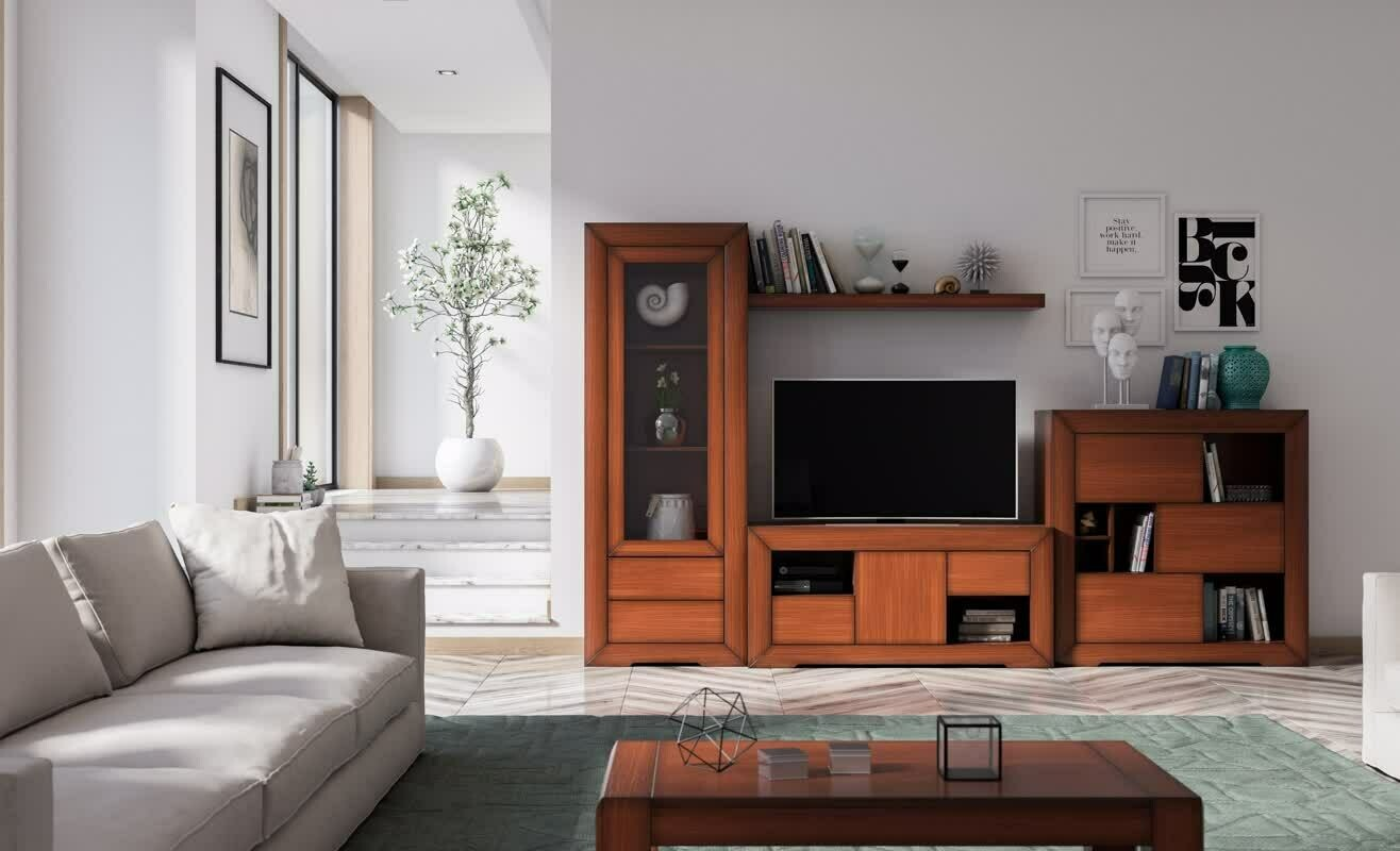 Apilable Salón en Chapa de Natural de roble color Cerezo.