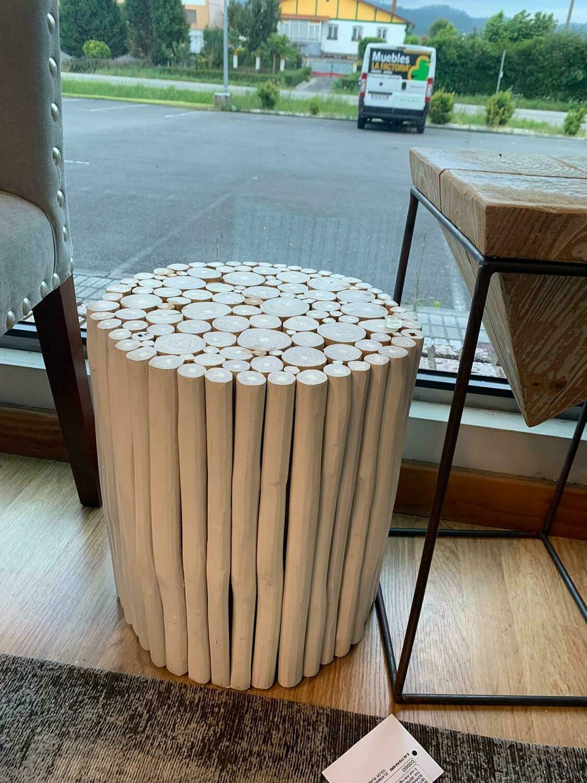 Mesa de estructura de madera de Eucalipto reciclado