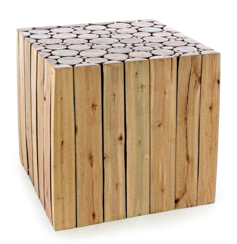 Mesa de estructura de madera de Eucalipto reciclado -rectangular-