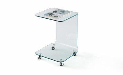 Mueble auxiliar en Vidrio templado 45x45x60cm.
