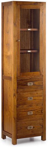 Vitrina de 1 puerta y 4 cajones, Ancho 50