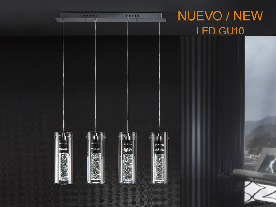 LAMPARA COLGANTE CON 4 FOCOS / LUCES LED
