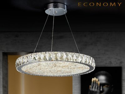 LAMPARA LED con Interior con octógonos de cristales.