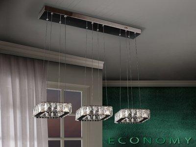 LAMPARA COLGANTE CON 3 LUCES LED -CUADRADOS-