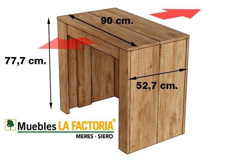 Mesa Consola extensible 4 en 1 ,En color Roble-Cambrian, Fíjate en el Grosor es de 22 milimentros !!