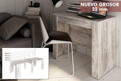 Mesa Consola extensible 4 en 1 ,En color Vintage , Fíjate en el Grosor es de 22 milimentros !!