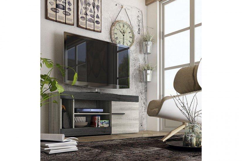 Mueble bajo de TV Bi-Color 135 cm