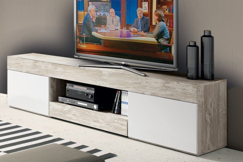 Mueble bajo de TV Bi-Color 180 cm